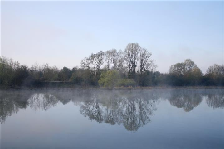 Morning Mist -Les Andelys by Sonia's view